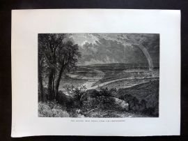 Picturesque Europe C1875 Antique Print. Danube, near Vienna, Germany